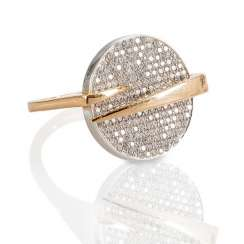 Rose gold Ring with diamonds,