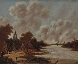 Jan (Johan) Meerhoud - River Landscape