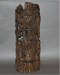 China, late XIX century, wood, carving