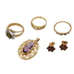 Jewelry mixed lot 5 pieces,