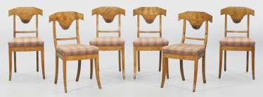 Set of six Biedermeier chairs