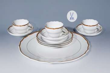 3er-set place settings, cake platter, MEISSEN 1974-1975