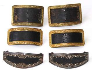 3 Pair Of Biedermeier-Style Boots With Buckles.