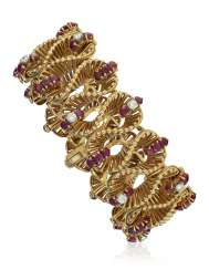 KUTCHINSKY RUBY AND DIAMOND BRACELET