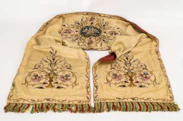 Elaborately embroidered altar runner