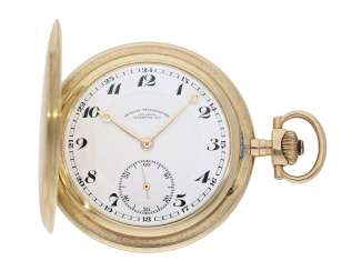 Pocket watch: very fine, large glashuette gold savonnette, precision pocket watch, quality 1A, German precision watch factory Glashütte No. 351405, Glashütte CA. 1930
