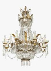 Chandelier, nine-flame, German, 19th century