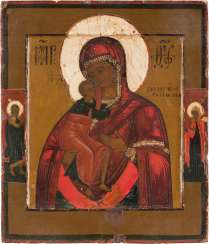 SMALL-FORMAT ICON WITH THE MOTHER OF GOD FEODOROVSKAJA Russia