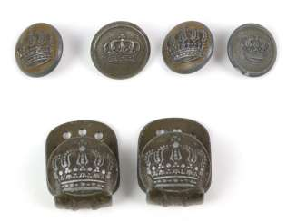 6 uniform buttons