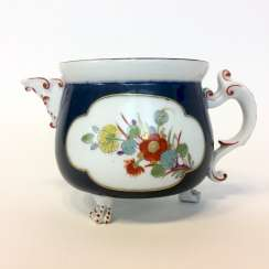 Very early and rare cream pot: Meissen porcelain, Oriental art decor.