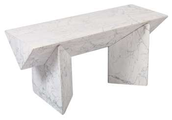 Marble coffee table is a single product out of cut marble slabs