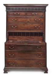 Top Chest Of Drawers (Tallboy). England, 18./19. Century