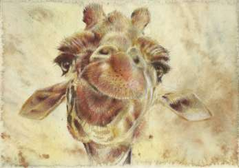 Giraffe. Drawing, handwork, 2019 Author - Pisareva Natalia