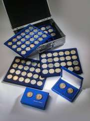 Great collection of 109 commemorative and circulation coins of the GDR
