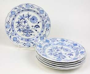Meissen 6 Dining Plates *Onion Pattern*