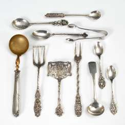 11 parts of silver serving Cutlery.