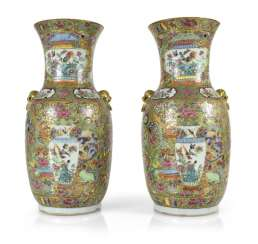 Pair Of Vases, Porcelain, China,