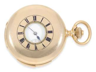 Pocket watch: very fine half-savonnette with Repetition, calibre Le Coultre, CA. 1900