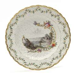 Plate with basket relief Nymphenburg, around 1770