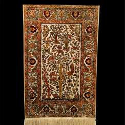 Hereke Turkish silk carpet handmade