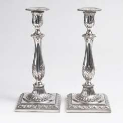 Pair of candlesticks in the classical style