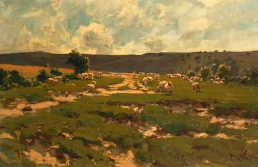 White, José: pasture with sheep.