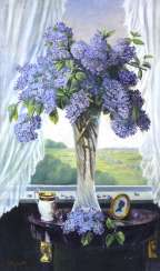 REFERRED to E. DAWN. STILL LIFE WITH FLOWERS LILAC