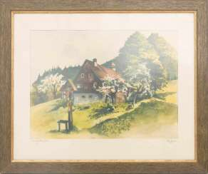 UNKNOWN ARTIST, BERGHOF, watercolour on paper, Germany, 20. Century