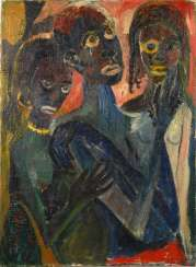 Expressionist portrait of three African women.