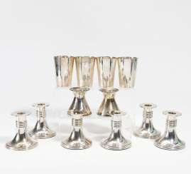 4 cups and 2 candlesticks