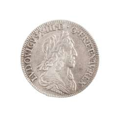 France - Louis XIII, 1610-1643, 1/4 Ecu 1643 A, Paris.