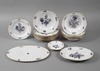 "Meissen rest service ""blue flower with insects"""