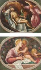 Two paintings: Madonna and Child and the Infant St. John. / Lamentation of Christ