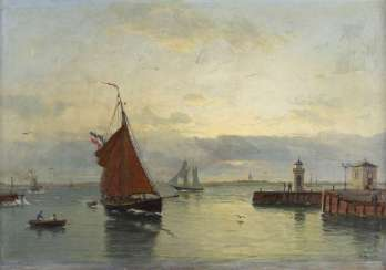 In the harbor, 1890