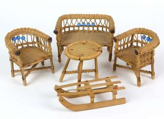 Basket set for the dollhouse