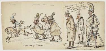 Everything rushes to the Diner! , Pocci, Franz Graf von 1807 München 1876 ibid.