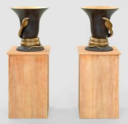 Pair of large parlor lamps in the Art Deco style