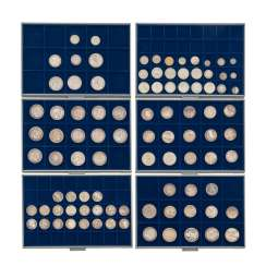 6 panels with coins of the Dt. The German Empire and the Weimar Republic -