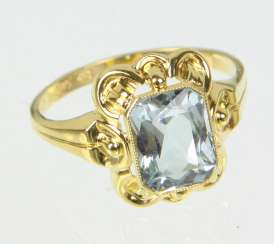 Aquamarin Ring - Gelbgold 585
