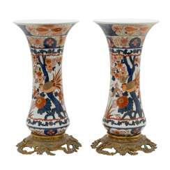 Some excellent Chinese Imari-rod vases. CHINA, Qing-dynasty (1644-1911).