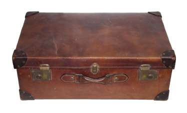 Suitcase, Leather Suitcase