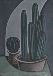 KRASNOPEVTSEV, DMITRY (1925-1995) Still Life with Cactus , signed with an initial and dated 1959 on the reverse.