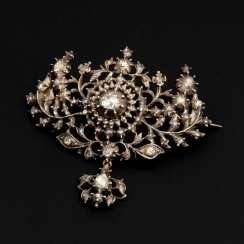 Brooch with old European cut diamonds to 188