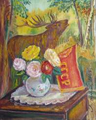 still life with tapestry