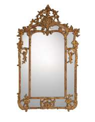 A FRENCH GILTWOOD AND GILT-COMPOSITION LARGE MIRROR