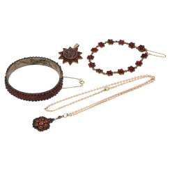 Collection Of Garnet Jewelry,