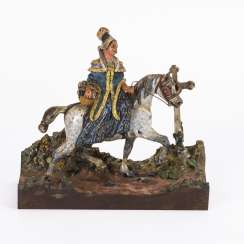 Exceptional Viennese bronze: rider on the way
