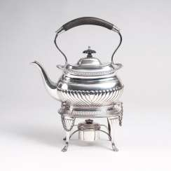 English teapot on a chafing dish