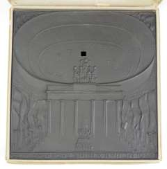 XI. Olympic games Berlin 1936 - cast iron plaque, in case.