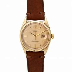 ROLEX Oyster Perpetual Datejust, Ref. 1601, ca. 1960er Jahre. Gold 14K.